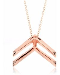 Sonal Bhaskaran - Pala Chevron Necklace Rose Gold - Lyst