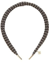 Colette Malouf - Woven Leather Headband - Lyst
