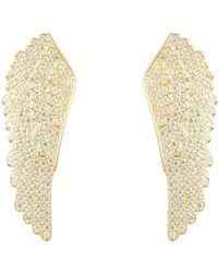 LÁTELITA London - Large Angel Wing Earring Gold - Lyst
