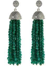 Cosanuova - Sterling Silver Jade Tassel Earrings - Lyst