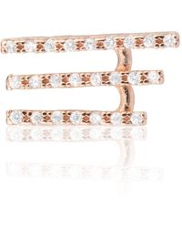 Astrid & Miyu - Crystal Armour Ear Cuff Rose Gold - Lyst