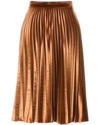 Lena Hoschek - Aurora Skirt Velvet Amber - Lyst