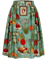 Marianna Déri - Hanna Skirt Frida Amor Turquoise - Lyst