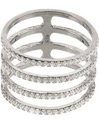 LÁTELITA London - Four Line Geometric Fashion Ring Sterling Silver - Lyst