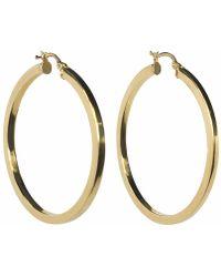 Talia Naomi - Khaleesi Squared Hooped Earrings Gold - Lyst