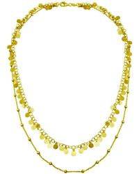 Cosanuova - Sterling Silver Double Strand Dangling Discs Necklace - Lyst