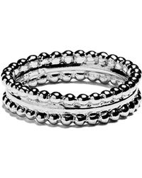 Agnes De Verneuil - Silver Ring Two Pearls Bands - Lyst
