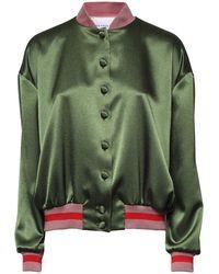 Hebe Studio - Sunday Green Loose Bomber Jacket - Lyst