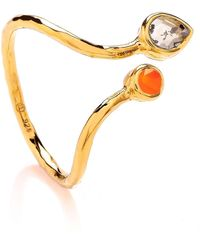 Dione London - Iris Diamond Slice & Carnelian Ring - Lyst