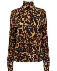 A - M M - E - Roll Neck In Leopard - Lyst
