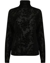 A - M M - E - Roll Neck In Velvet Black Lace - Lyst