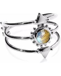 Agnes De Verneuil - Silver Three Band Ring Sun & Stone Labradorite - Lyst