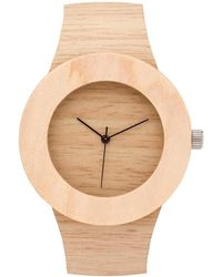 Analog Watch Co. - Silverheart & Maple Without Hour Markings - Lyst
