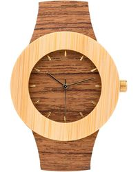 Analog Watch Co. - Teak & Bamboo With Hour Markings - Lyst