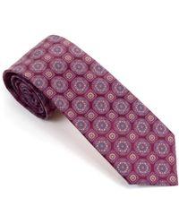 Silvio Fiorello - Medallion Hand Printed Silk Tie - Lyst