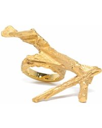 Loveness Lee - Pengyan Chunky Gold Textured Ring - Lyst
