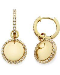 MONARC JEWELLERY - The Aurora Dome Drops 9ct Gold And White Topaz - Lyst