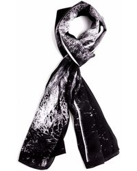 Tal Angel - The Black Panoramic Silk Scarf #2 - Lyst
