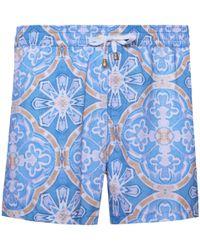 KLOTERS MILANO - Blue Tile Swim Shorts - Lyst