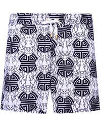 KLOTERS MILANO - Black & White Tigers Swim Short - Lyst