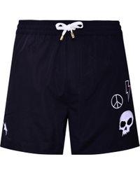 KLOTERS MILANO - Black Swim Shorts With Skull - Lyst