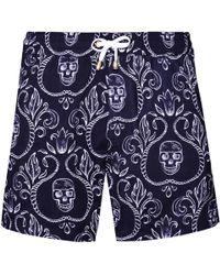 KLOTERS MILANO - Skulls Black Version Swim Shorts - Lyst
