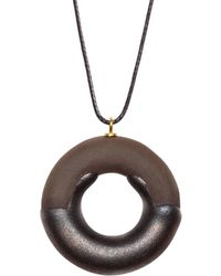 Tadam! Design - Pendant Necklace Earl Grey Doughnut - Lyst