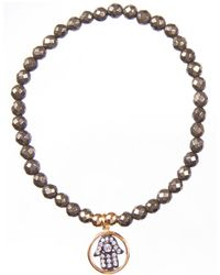 Twenty-2 Jewelry - Hamsa On Pyrite - Lyst