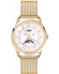 Henry London - Unisex 39mm Westminster Moonphase Stainless Steel Bracelet Watch - Lyst