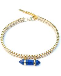 Clare Hynes Jewellery - Milly Choker Gold With A Blue Lapis Pendant - Lyst