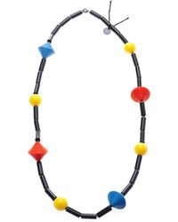 Scenery Label - Bicone Bead Necklace - Lyst