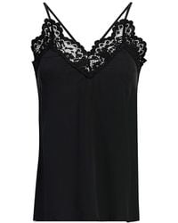 MYBESTFRIENDS - Silk Lace Detail Cami - Lyst