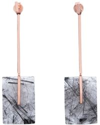 Tada & Toy - Aerial Earth Drops Earrings Rose Gold - Lyst