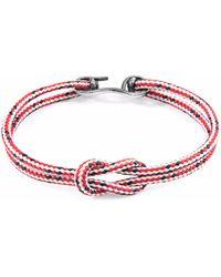 Anchor & Crew - Brown Brighton Silver & Rope Bracelet - Lyst