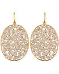 Carousel Jewels - Large Oval Sliced Crystal Earrings - Lyst
