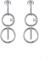 Opes Robur - Silver Figure Of Eight Earrings - Lyst