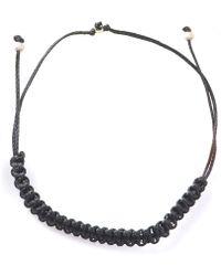 Myriamsos - Friendship Bracelet Black - Lyst