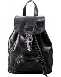 Maxwell Scott Bags - Luxury Italian Leather Women's Rucksack Sparano Black - Lyst