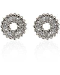 Ri Noor - Round Diamond Earrings - Lyst