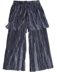 SAKU New York - Two Layered Wide Slit Pants - Lyst