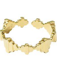 Jewel Tree London Baori Crown Ring - Metallic