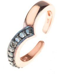 LÁTELITA London - Diamond Rosegold Midi Ring Chevron - Lyst