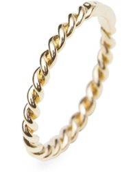 ISABEL LENNSE - Extra Thin Ring Twisted Gold - Lyst