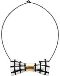 Scenery Label - Grid Bow Chain - Lyst