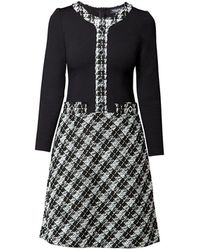 Rumour London - Beatrice Jersey Dress With Checked Tweed Skirt - Lyst