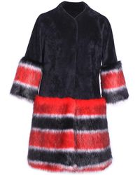 Ardent & Co - Poppy Red Contrasted Faux Mink Fur - Lyst