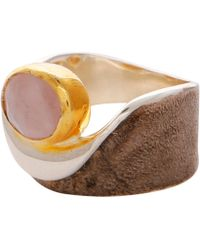 Carousel Jewels - Rose Quartz Gold & Silver Pocket Ring - Lyst