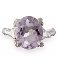Chupi - Drop In The Wild Amethyst Ring In Silver - Lyst