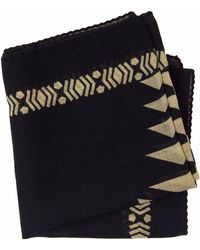 40 Colori - Black Aztec Printed Wool Bandana - Lyst