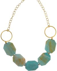 Magpie Rose - Green Amazonite Statement Necklace - Lyst